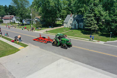 Tractor and Drag in Parade